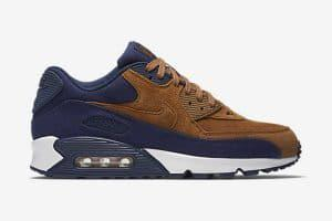 Air Max 90 marron et bleu